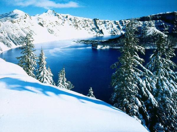 Зимний пейзаж Картинки, рисунки красивые