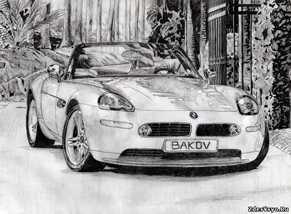черно белые фото девушек с автомобилями