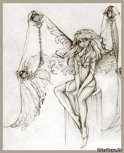 ангелы карандашные картинки красивые