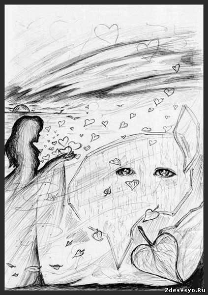абстрактные карандашные картинки красивые