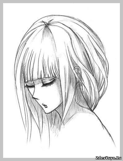 аниме карандашные картинки красивые