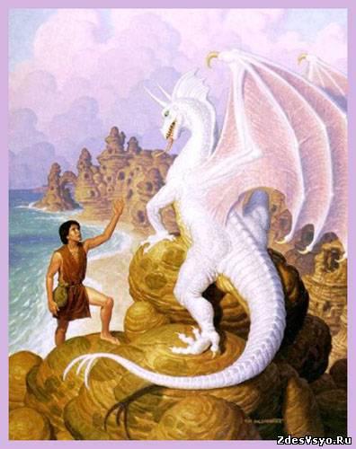 дракон белый Картинки, рисунки красивые