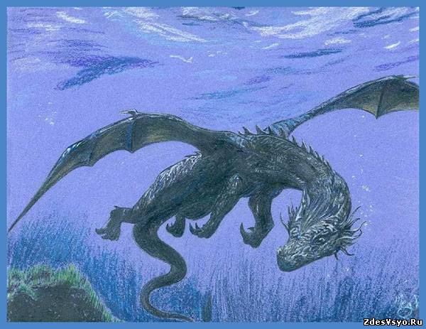 дракон водяной Картинки, рисунки красивые